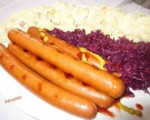 Salchichas Bockwurst estilo berlín