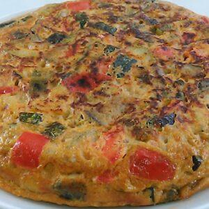 Tortilla de pisto de verduras
